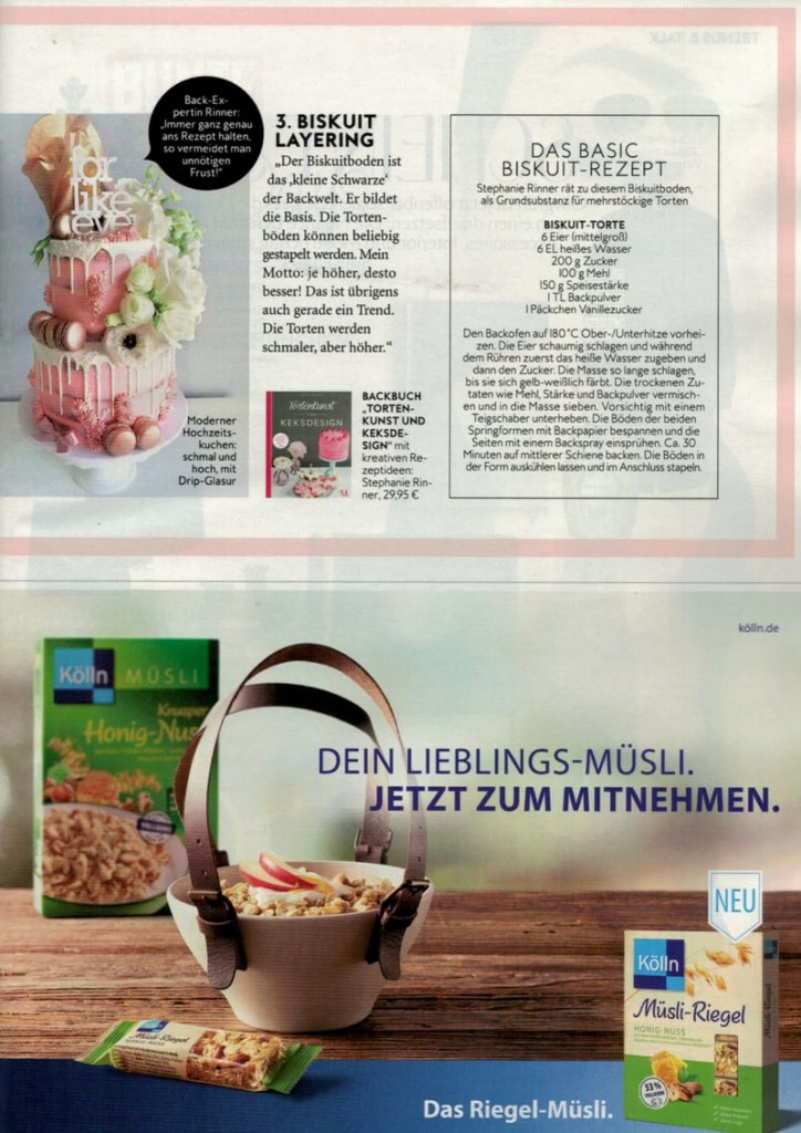 Mein Keksdesign in der INSTYLE November 2017