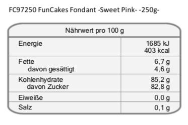 FunCakes Fondant für Tortendeko in Rosa, Rollfondant Pink 250g