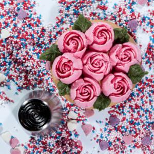 Mein Keksdesign Nifty Noozles Ruby Russian Pips Blüten Blumenform Tortendeko