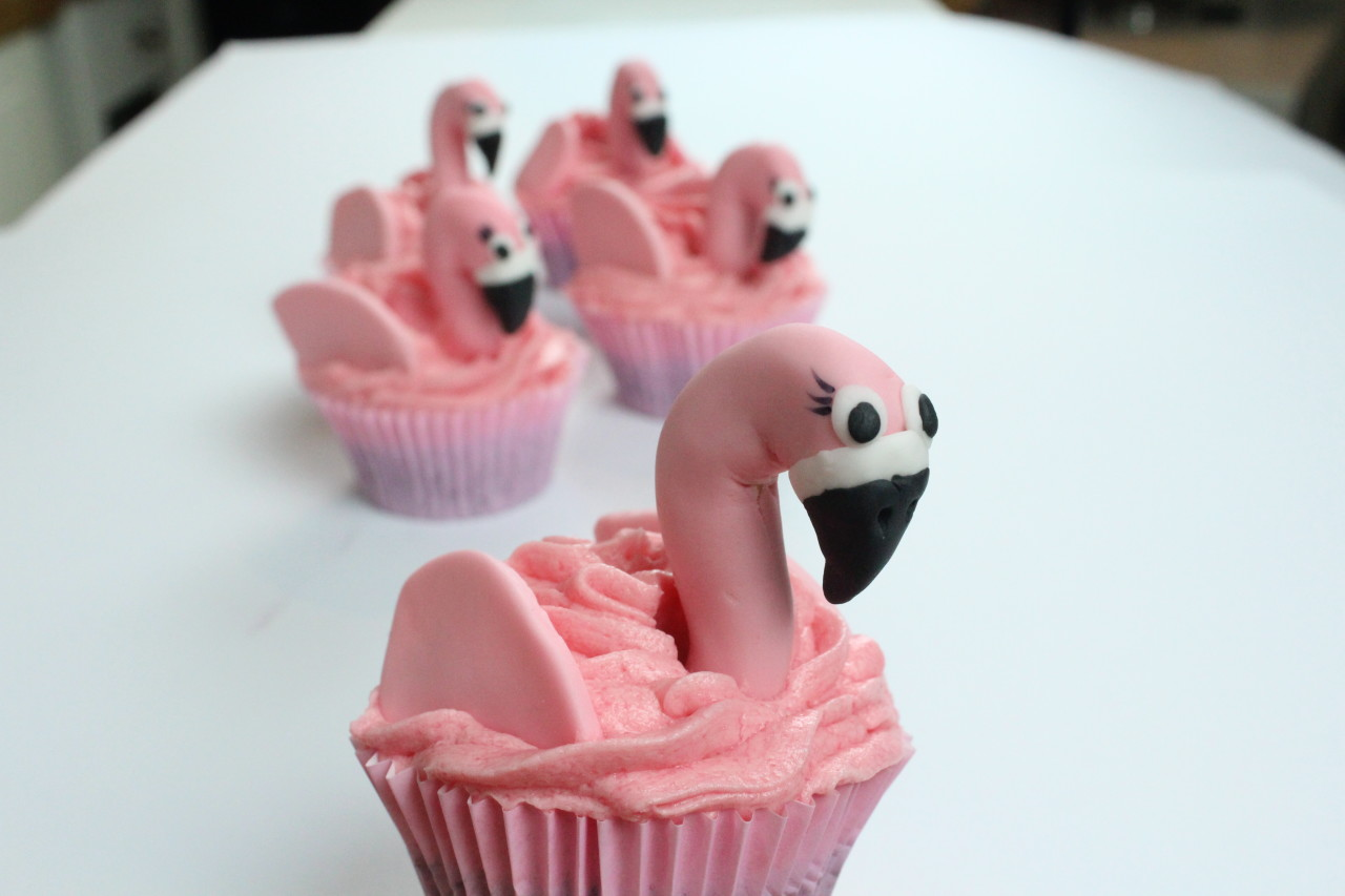 Rezept Fur Coole Flamingo Cupcakes Von Mein Keksdesign
