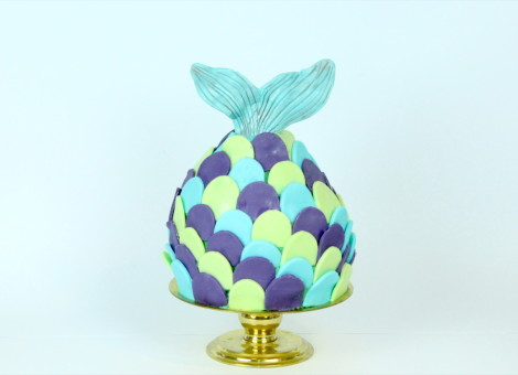 Mermaid Torte, Rezept Meerjungfrau Motivtorte von Mein Keksdesign