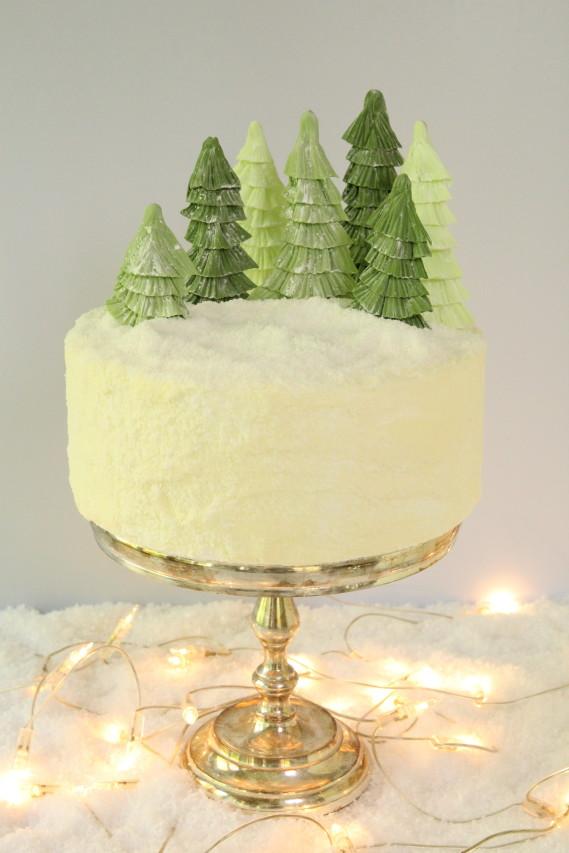 Tortenrezept mit Lebkuchen, Spekulatius, Christbaum und Weihnachtsdeko, Mein Keksdesign Stephanie Juliette Rinner