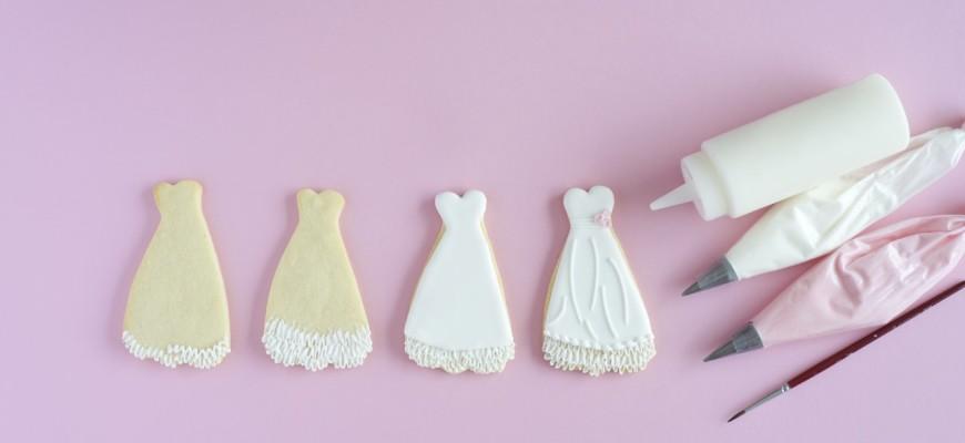Schritt für Schritt Anleitung für Hochzeitskekse von Mein Keksdesign