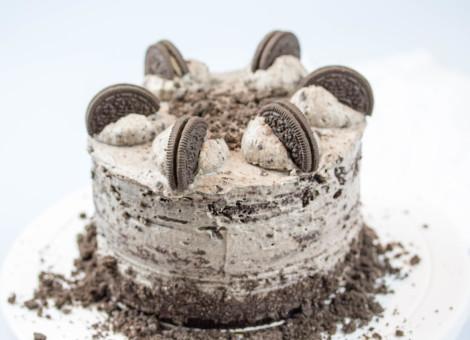 OREO Kuchen, Naked Cake mit Schokolade und Kekse von Mein Keksdesign