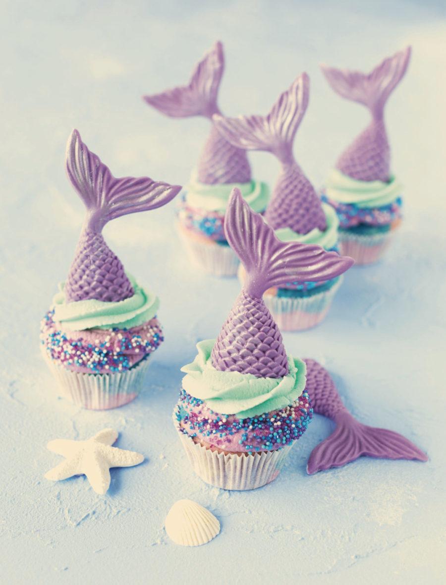 Cupcakes für kleine Meerjungfrauen