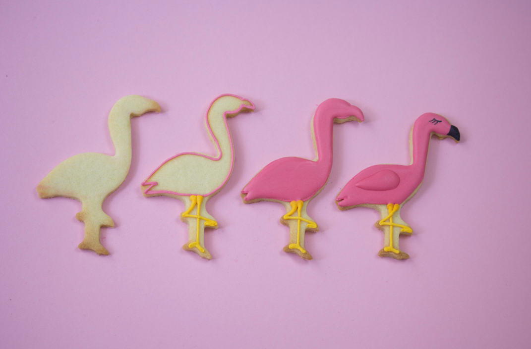 Royal Icing Rezept für Flamingo Kekse