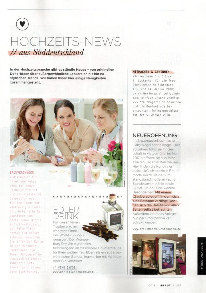 Mein Keksdesign, Backkurs München, im Braut Magazin, Stephanie Juliette Rinner, Autorin