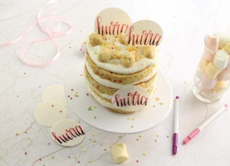 Coole Geburtstagstorte mit essbarem Konfetti