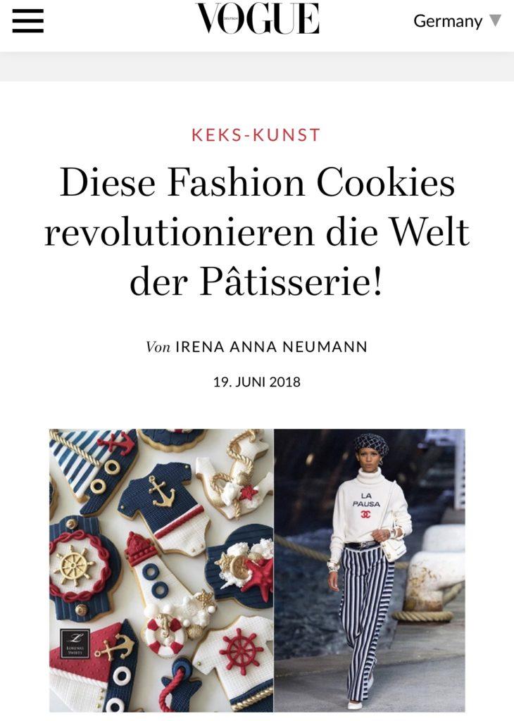 Stephanie Juliette Rinner in der VOGUE, die süße Kunst der Keksverzierung