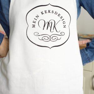 Die beliebte Backschürze aus den Mein Keksdesign Backkursen von Stephanie Juliette Rinner.