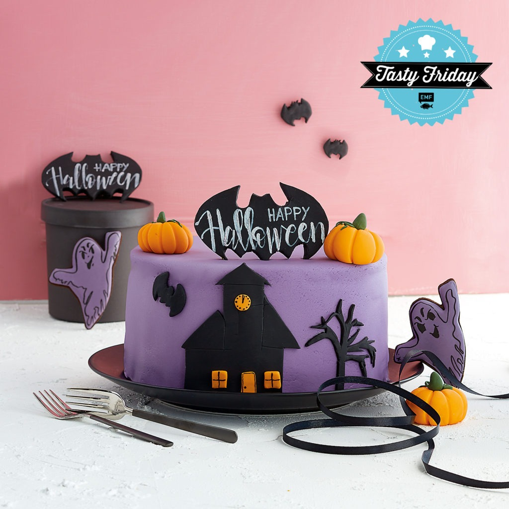 Red Velvet Cake als Basis für gruselige Halloween Torten
