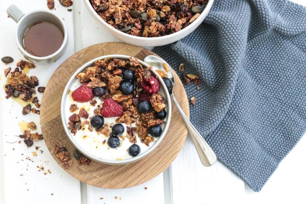 Natürliche Zutaten zum Frühstück