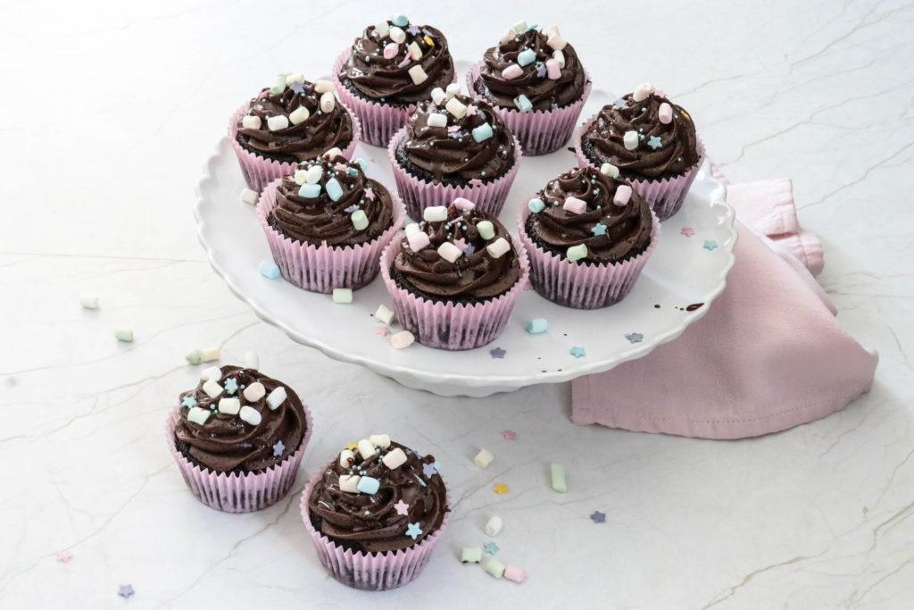 Nicht nur für Mädchen ein Traum: Schoko Cupcakes