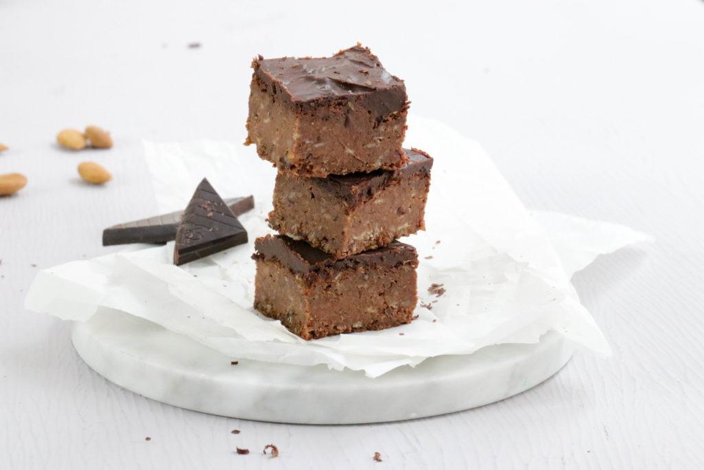 Rezept für Süßkartoffel Brownies, vegan und zuckerfrei backen
