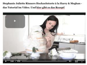 Rezept Hochzeitstorte - Semi Naked Cake mit Pfingstrosen