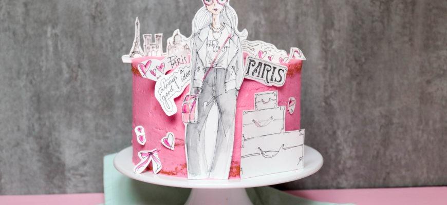 Zauberhafte Paris Illustrationen für mein Törtchen