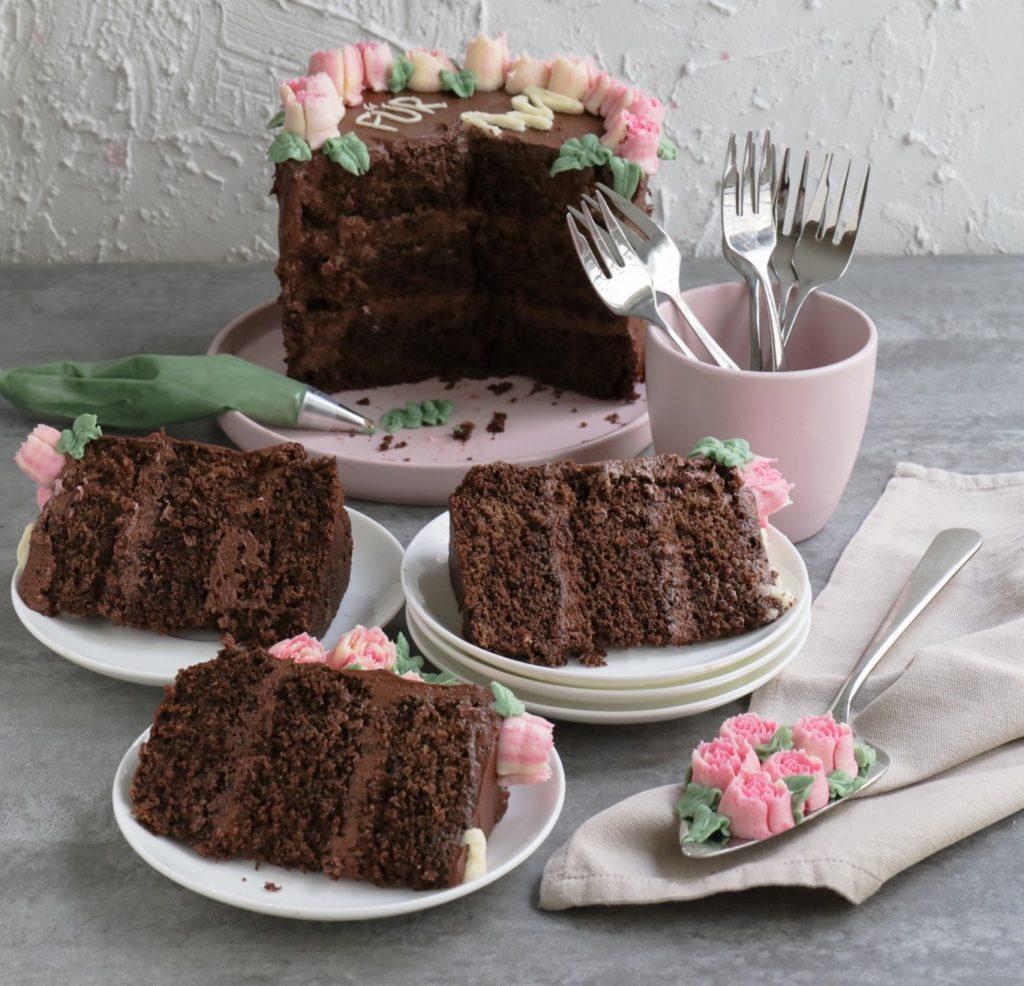 Schokotorte mit Cake Lettering zum Muttertag