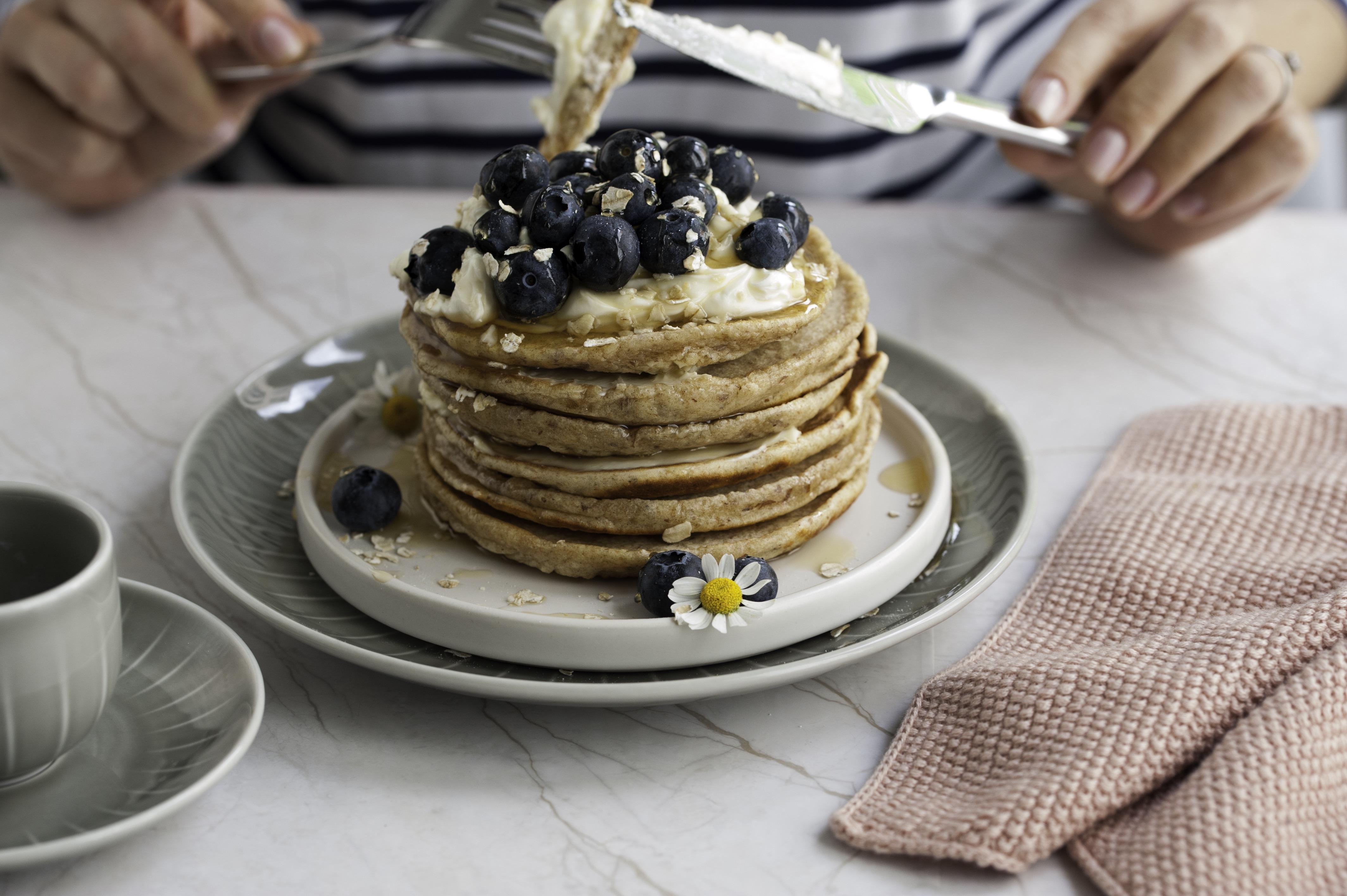 Pancakes Rezept fluffig und gesund backen