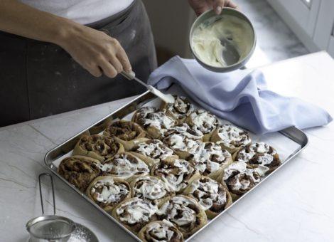 Rezept für schwedische Zimtschnecken mit Apfel