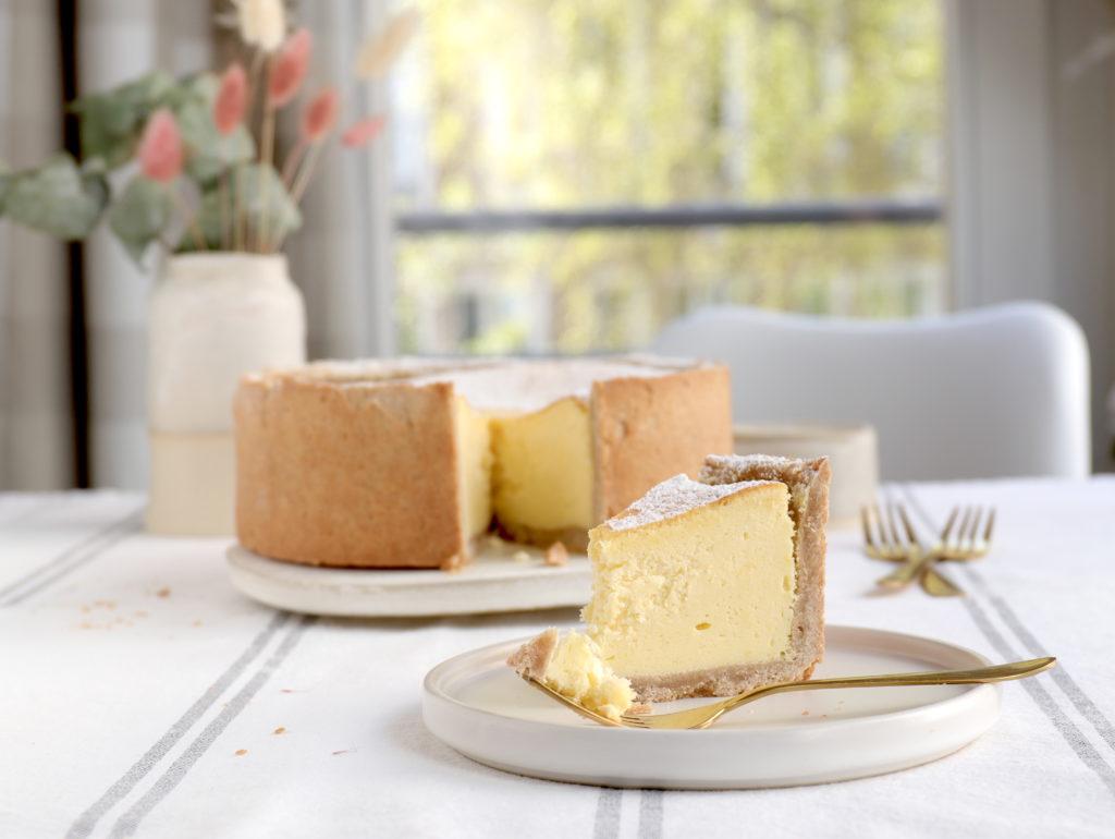 Rezept für Käsekuchen mit Quark und Mürbeteig