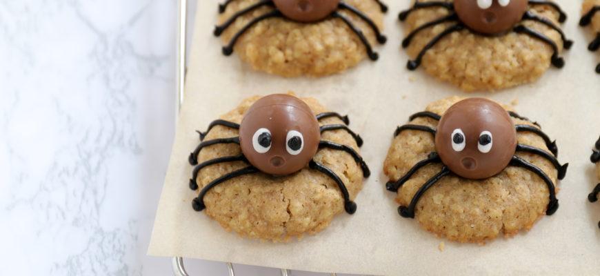 Rezept Spider Cookies mit Dinkelkeks und Schoko