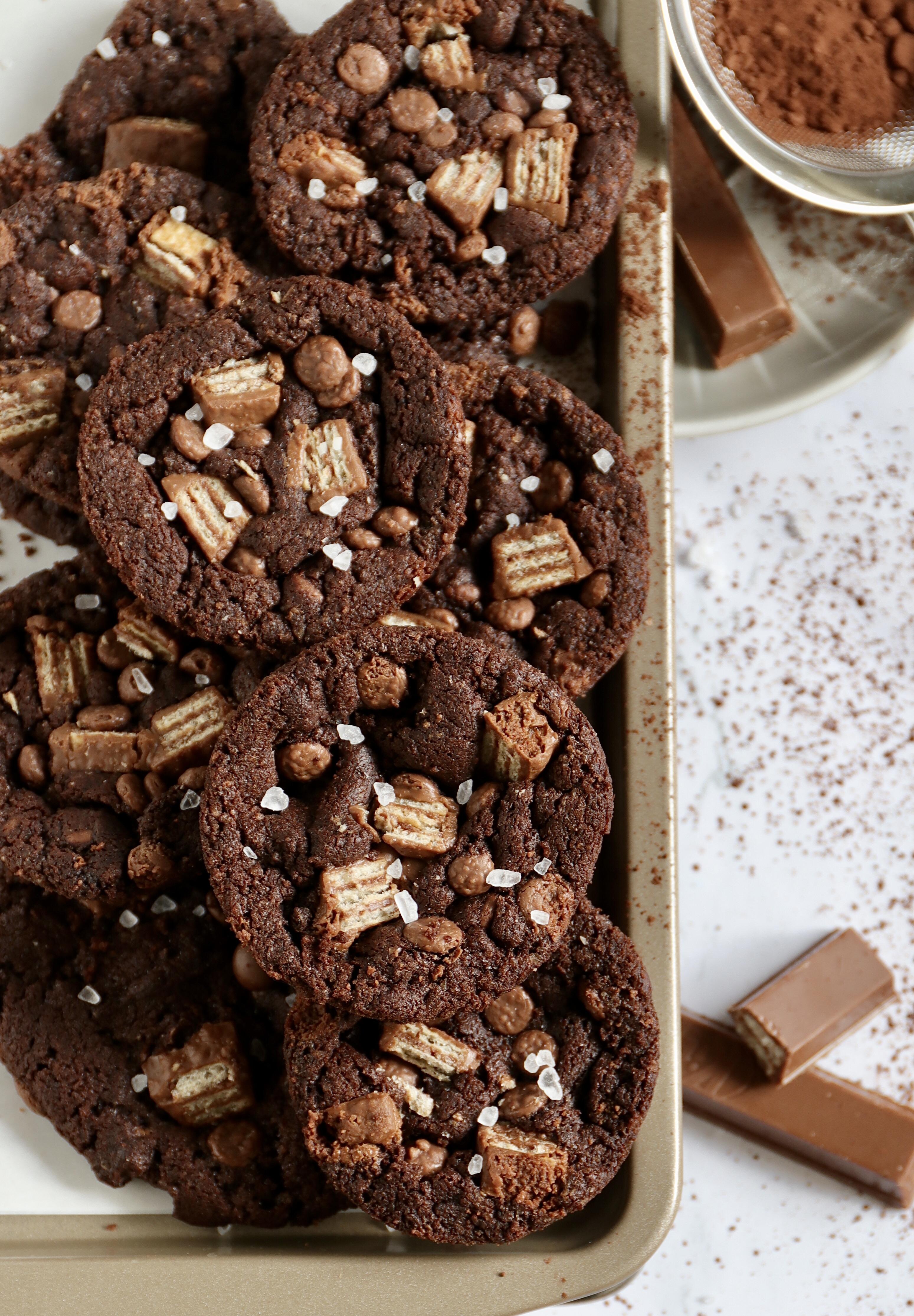 Rezept für Chocolate Chip Cookies mit KitKat
