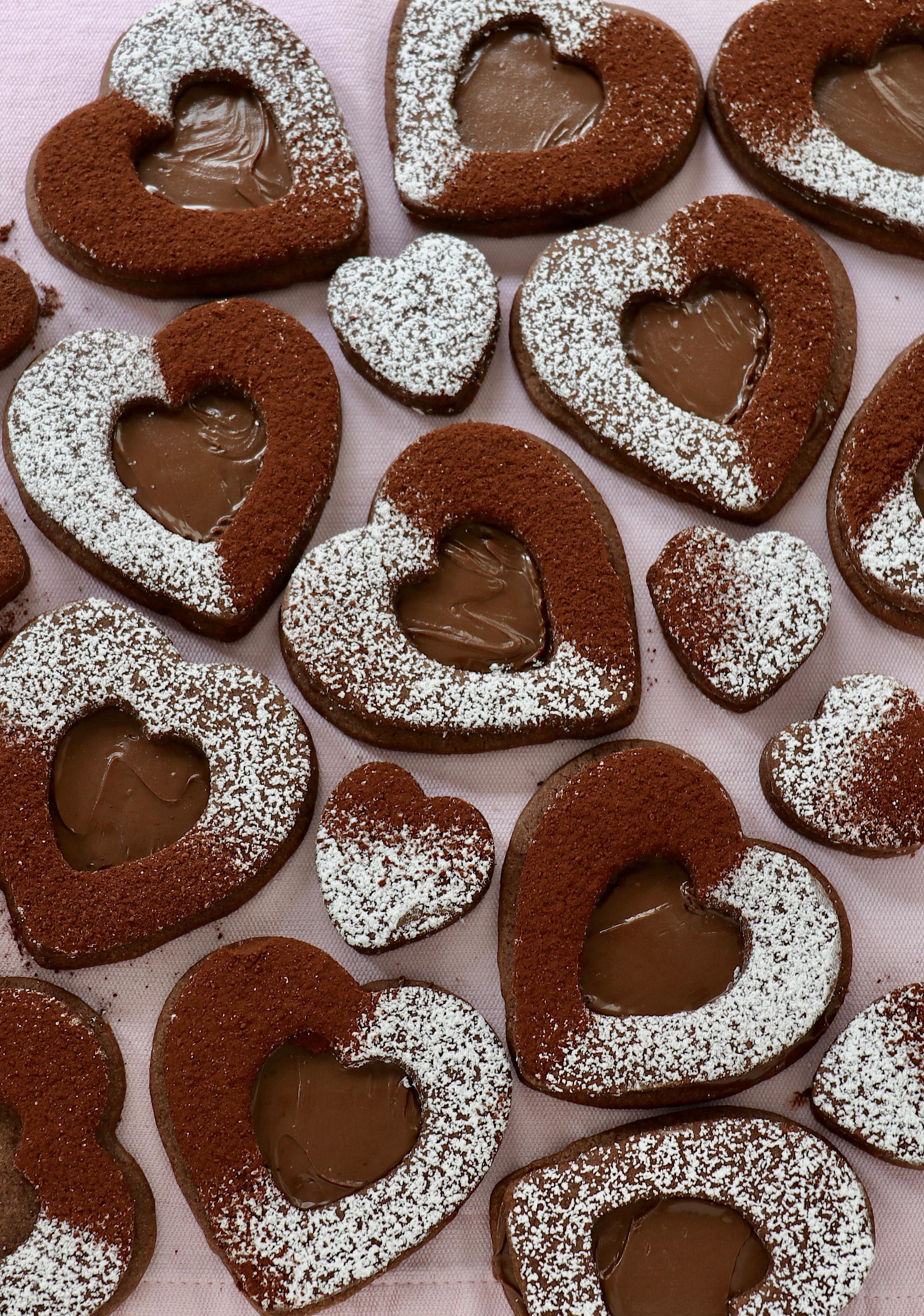 Leckere Schokokekse mit Nutella Haselnusscreme