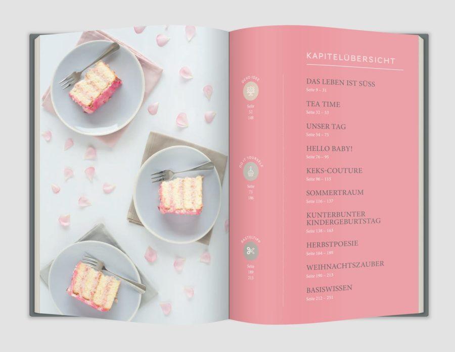 Backbuch Tortenkunst und Keksdesign Inhaltsverzeichnis